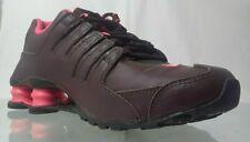 Nike Women's  Nike Shox Running Shoes  Red Wine/Pink 7.5