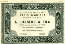 Publicité ancienne tapis d'Orient L. Dalsème & Fils 1909 issue de magazine