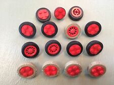 LEGO Vintage Wheels -14 Wheels With Tires 1 Wheel Without!