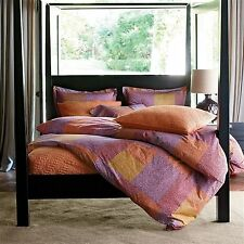 Duvet Cover Piazza 100%Cotton Multi color Blue or Plum BY The Company Store $120