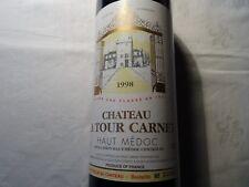 Chateau La Tour Carnet Quatrième grand cru classé Haut Médoc1998 bouteille 75 ml