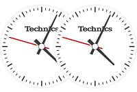Coppia Feltri Panni Antistatici per Giradischi Slipmats Technics Time (Twin-Set)