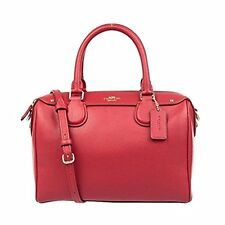 Coach Bag F36624 Mini Bennet Satchel Crossgrain Leather Red Agsbeagle
