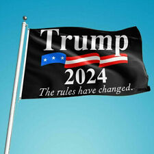 New listing 3x5ft Donald Trump 2024 President Flag The Rules Have Changed Save America Again