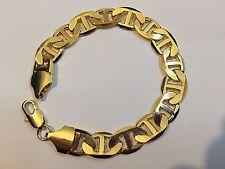 23cm 18K Gold Filled Anchor Chain Bracelet, Men Women's Christmas Birthday Gift