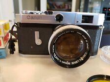 Canon VI-L Rangefinder Camera, 50mm f1.4 Lens, Extras