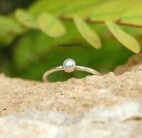 Solid 925 Sterling Silver Ring Anxiety Silver Ring Handmade Pearl Ring ++++++