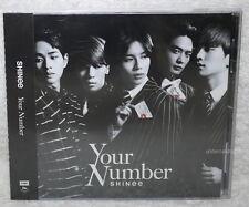 SHINee Your Number 2015 Taiwan Ltd CD 16p Card Japanese LAN Jonghyun