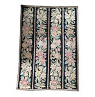 """HANDMADE LARGE FLORAL COLUMN AUBUSSON EMBROIDERY TAPESTRY 102.5"""" x 70"""""""