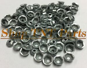 100pc Washer Lock Trim Nuts Thread Cutting #8-32 Zinc Coated Pal Nut Mopar