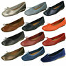 LADIES CLARKS LEATHER SLIP ON BOW BALLERINA FLAT SHOES PUMPS FRECKLE ICE SIZE
