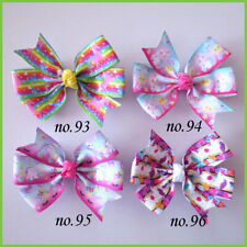 "20 BLESSING Good Girl 3.25"" Abby Hair Bow Clip Unicorn Accessories Wholesale"