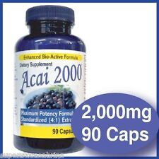 Premio puro 2000mg Acai Berry la Dieta Dimagrante Bruciagrassi Perdita Peso Pillole