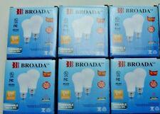 12 LED Dimmable A19 Light Bulbs 9w 120v 60HZ 85mA 800 Lumens Warm White Broada