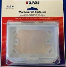 Weatherproof Power Point Protector GPO Enclosure IP23 Clipsal C 2000 223H White