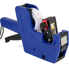 MX-5500 8 Digits Price Gun Tag Machine Labeler Blue 1 Roll Blank labels +1 Ink