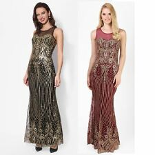 Ladies Glitter Maxi Dress Women Formal Cocktail Fishtail Mermaid Evening Party