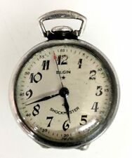 1940's Elgin 17J 630 Small Pocket Watch Nurse Shockmaster Sterling WW2 4 Repair