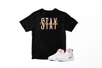 Stay Humble Graphic T-Shirt To Match Jordan 12 Retro Fiba 100% Cotton Urban