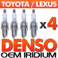 4 PC Denso Long-Life Iridium Spark Plug Set OEM for Toyota Corolla,Matrix,Prius