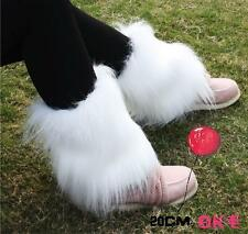 ladys womens Boot Cuff Fluffy Furry Faux Fur Leg Warmers Boot Toppers Socks