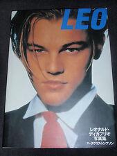 "Leonardo DiCaprio Japan PHOTO BOOK ""Leo"" 100 pgs. pics, rare vintage near mint"