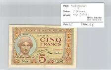 BILLET MADAGASCAR  - 5 FRANCS (1937)