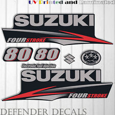 Suzuki 80 hp Four Stroke outboard engine decal sticker set kit reproduction 80HP