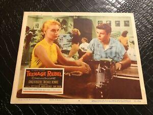 1956 MOVIE LOBBY CARD #4-2360 TEENAGE REBEL - GINGER ROGERS
