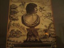 Grabado Antiguo impresión de papel británico frontispicio Robert Herrick Hesperides