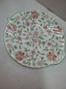 Minton 'Haddon Hall' cake/sandwich plate with 'handles'