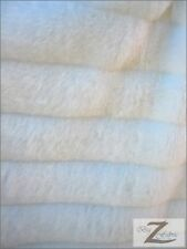 MINK SHAGGY FAUX FUR FABRIC - White with Lines - LONG PILE FUR BY YARD MONGOLIAN
