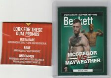 ULTRA RARE CARD;MAYWEATHER VS MCGREGOR,DOUBLE SIDED CARD.EXCLUSIVE LIMD.