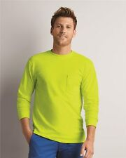 Gildan 2410 Ultra Cotton® Classic Fit Long Sleeve T-Shirt with Pocket S to 5XL