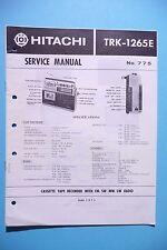 INSTRUCCIONES MANUAL DE SERVICIO PARA Hitachi trk-1265, original