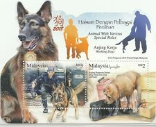 MALAYSIA 2018 Animals With Various Special Roles MS with 2V MNH