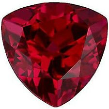Lab Created Hydrothermal Red Ruby Trillion Faceted Loose Stones (3x3mm-10x10mm)
