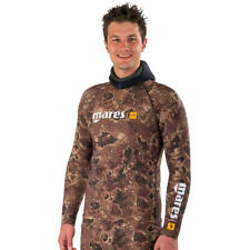 MARES Rash Guard Top Camouflage Brown TOP for Spearfishing Snorkeling Diving