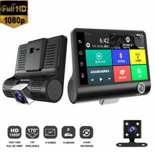 4'' HD 1080P 3 Lens DVR Dash Cam Vehicle Video Recorder Rearview Camera G-sensor