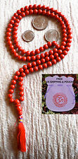 Red Coral 6mm 108 Handmade Mala Beads Necklace - Blessed & Energized