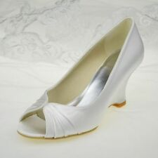 Satin Platform & Wedge Medium Width (B, M) Heels for Women