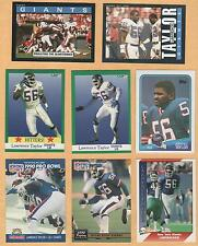 1985 - 1991 Lawrence Taylor 9 card lot New York Giants / North Carolina HOF