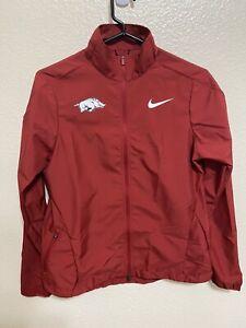 RARE Arkansas Razorbacks Nike Womens Track Jacket Gray sample Size Small