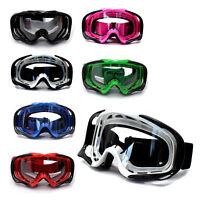 Clear lens Motocross Motorbike MX Goggles Anti-fog UV protection dirt/trail bike