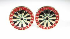 Dartboard Cufflinks Bulls Eye Target New in Package