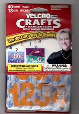 """Velcro Numbers 40 Count + 18 Hanger Clips Crafts Yellow 1.75"""" Removable School"""