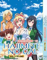 DVD ANIME Hajimete No Gal Vol.1-10 End All Region ~ENGLISH DUBBED~ + FREE DVD