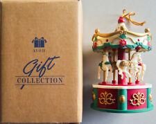 "1996 Avon MUSICAL LIGHTED UNICORN 4.5"" CAROUSEL ""Wish You Merry Christmas"" -New!"