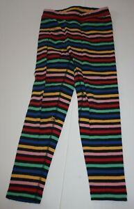 Used Hanna Andersson Girls 130 8 year Rainbow Full Length Leggings Terry