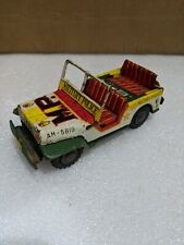 1950's Jeep Willys Military Police Collectible 1/64 Scale Metal Tin Truck
